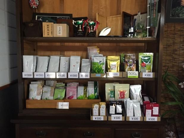 森内茶園商品棚